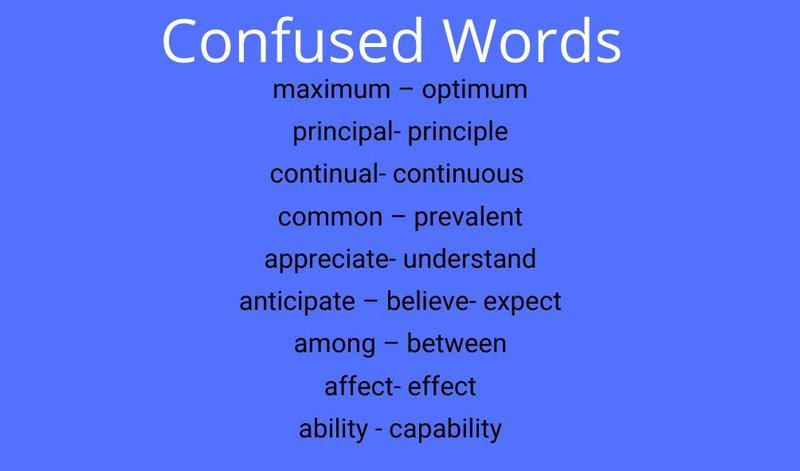Technical Writing- Confused words